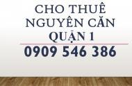 Cho thuê nhà mặt tiền (4,3x15m) đường Đề Thám, Phường Phạm Ngũ Lão, Quận 1