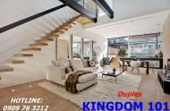 Bán căn hộ duplex Kingdom 101 MT Tô Hiến Thành Q10 view hồ bơi cực đẹp chỉ 78tr/m2. LH: 0909763212
