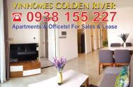 Cho thuê căn hộ Vinhomes Golden River, 2 PN, DT 69- 90 m2. Giá chỉ 27 tr/tháng, LH 0938.155.227