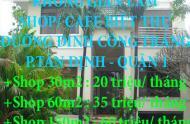 CHÍNH CHỦ CHO THUÊ KHÔNG GIAN LÀM SHOP/ CAFE BIỆT THỰ ĐƯỜNG ĐINH CÔNG TRÁNG, P.TÂN ĐỊNH, QUẬN 1,